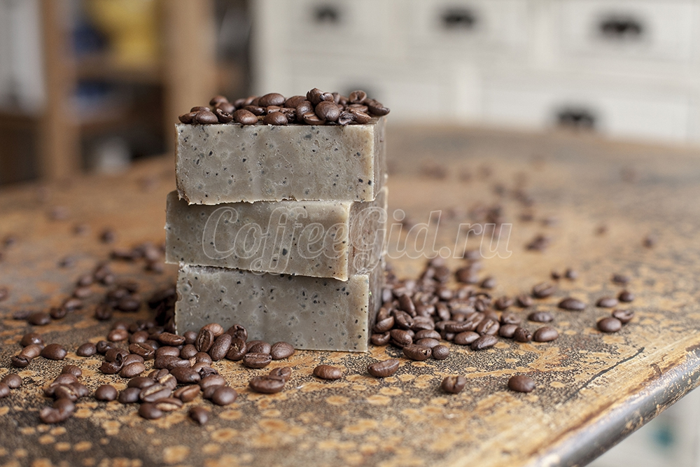 кофейное мыло ручной работы