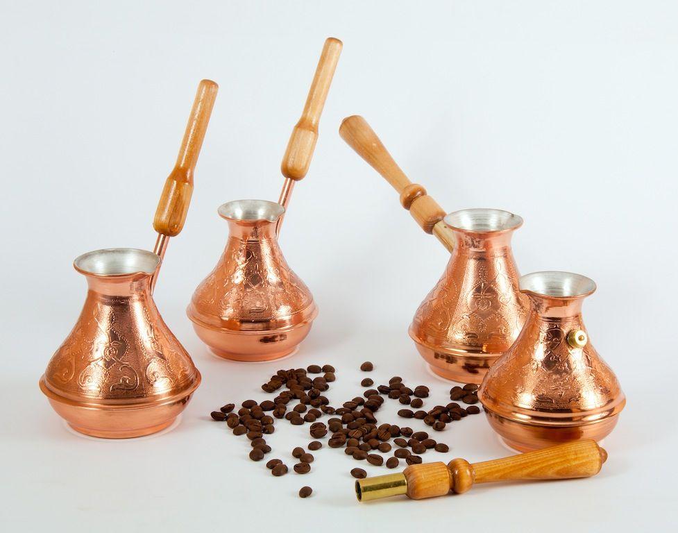медная турка для кофе