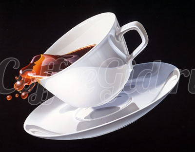 пролитое кофе