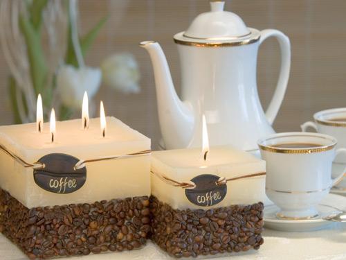 свечи с кофе