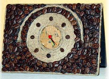 часы из кофе и шпагата