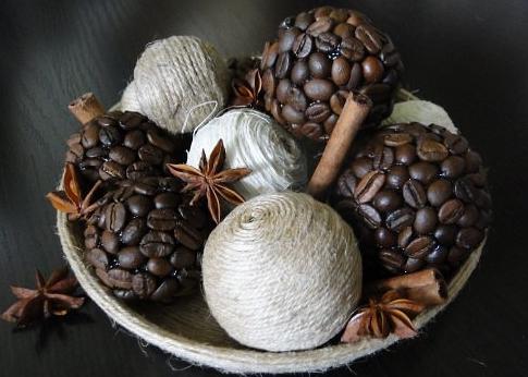 изделия из кофе и шпагата