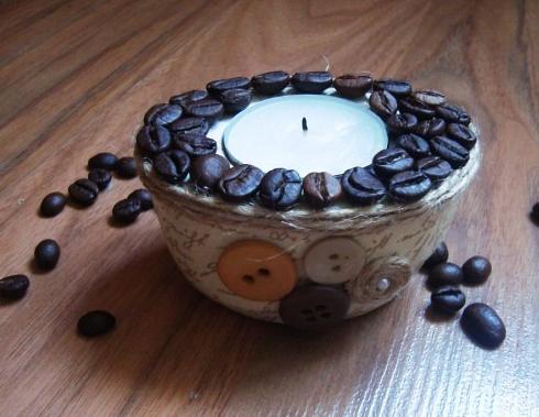 кофейный подсвечник