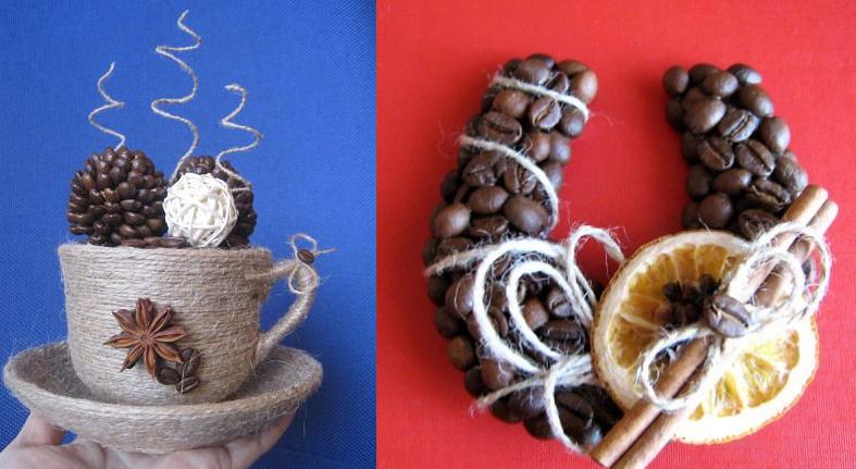 Магниты с кофейными зернами своими руками