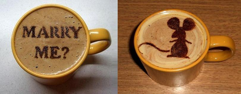 рисунки на кофе