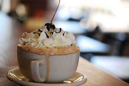 кофе с мороженым