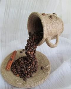 водопад из кофе