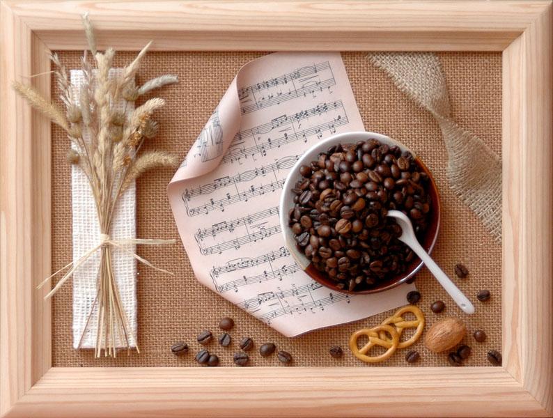 Панно из кофейных зерен картинки