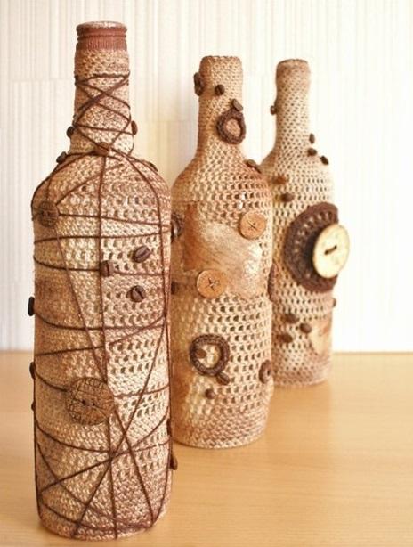 вазы с кофе и мешковины