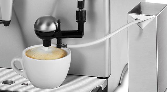 робота автоматического капучинатора кофемашины