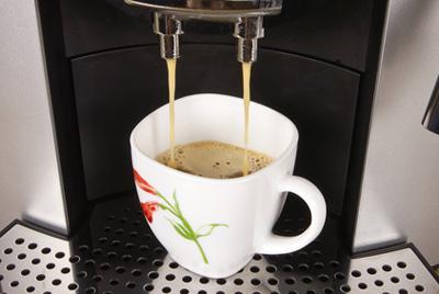 готовим кофе в кофемашине