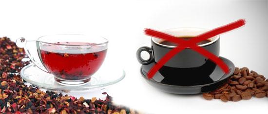 вместо кофе чай на травах